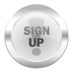 sign up chrome web icon isolated