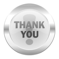 thank you chrome web icon isolated