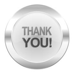 thank you chrome web icon isolated