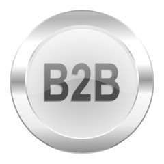 b2b chrome web icon isolated