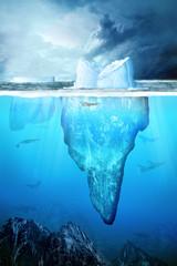 Eisberg unter Wasser in der Anarktis