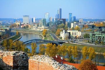 Vilnius autumn panorama from Gediminas castle tower