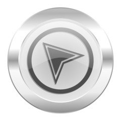 navigation chrome web icon isolated