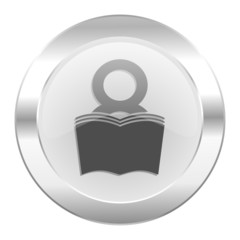 book chrome web icon isolated