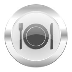 restaurant chrome web icon isolated
