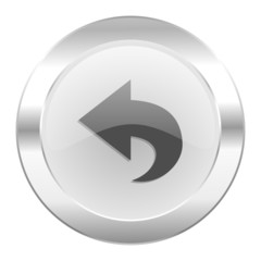 back chrome web icon isolated