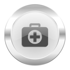 first aid chrome web icon isolated