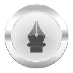 pen chrome web icon isolated