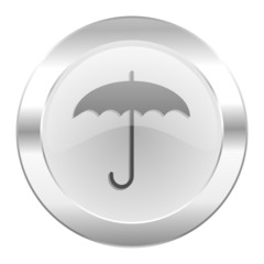 umbrella chrome web icon isolated
