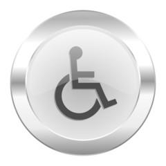 wheelchair chrome web icon isolated