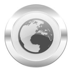 earth chrome web icon isolated