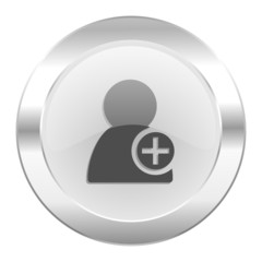 add contact chrome web icon isolated