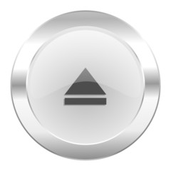 eject chrome web icon isolated