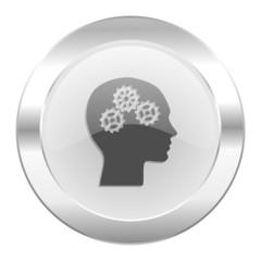 head chrome web icon isolated