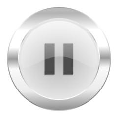pause chrome web icon isolated