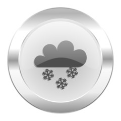 snowing chrome web icon isolated