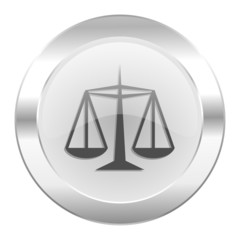 justice chrome web icon isolated