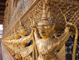 Detail of Wat Phra Kaew, Bangkok