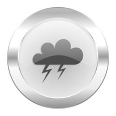 storm chrome web icon isolated