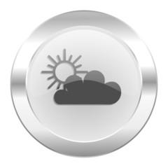 cloud chrome web icon isolated