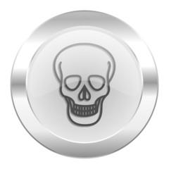 skull chrome web icon isolated