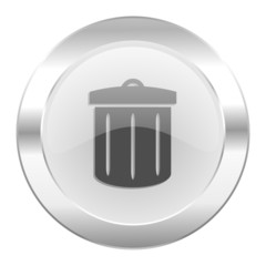 recycle chrome web icon isolated