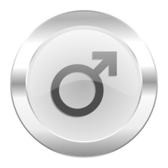 male chrome web icon isolated