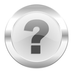 question mark chrome web icon isolated