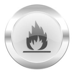 flame chrome web icon isolated