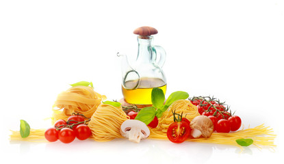Fresh ingredients for Italian pasta