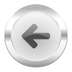 left arrow chrome web icon isolated