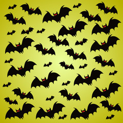 Halloween holiday background with bats