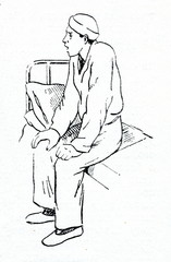 Forced posture of asthma patient