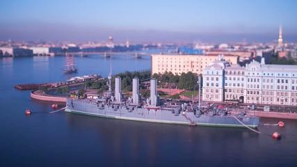 Russian Cruiser Aurora. Saint Petersburg