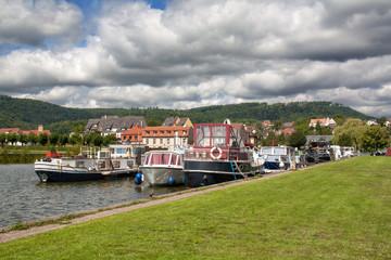 Bateaux au port de plaisance de Saverne, Alsace, Bas Rhin