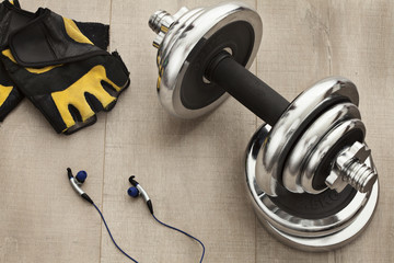 a set of equipment for training