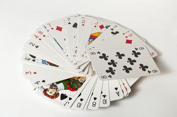 wachlarz z kart