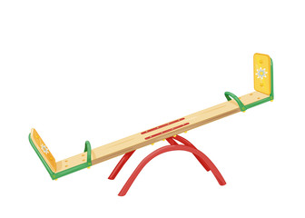 Playground for children. Illustration of seesaw