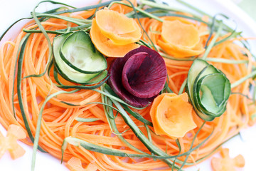 carrot cucumber and beetroot salad