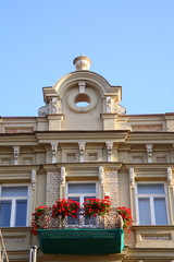 Fragment of a building in Vilnius