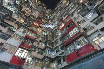 Crowded Residental building in Hong Kong