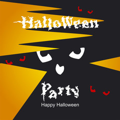 Halloween scary eyes abstract way orange background