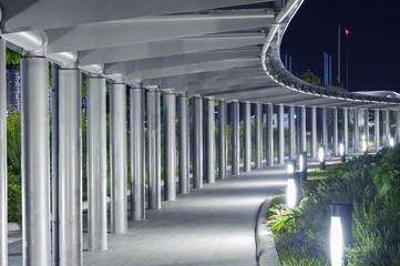 modern corridor - photo - steel construction