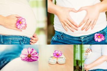 Collage Schwangerschaft