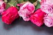 Obrazy na płótnie, fototapety, zdjęcia, fotoobrazy drukowane : red and pink  roses  on table