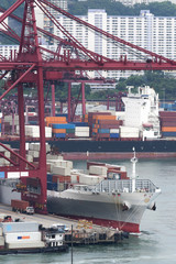 commercial container port in Hong Kong