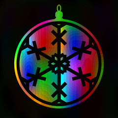 Christmas ball. New Year toy Vector