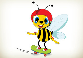 Skateboarder Bee