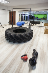 gym interior with equipment for cross-fit