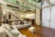 canvas print picture - Interior, wide loft